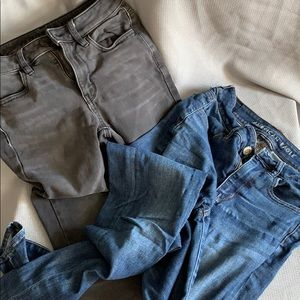 The 2 by 2 Lot: 2 American Eagle Jeans size 2 Long